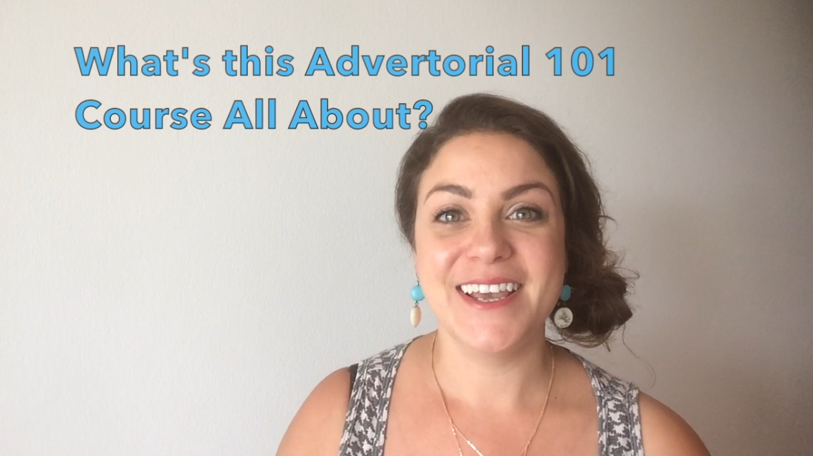 What's Inside The Advertorial 101 Training Course?