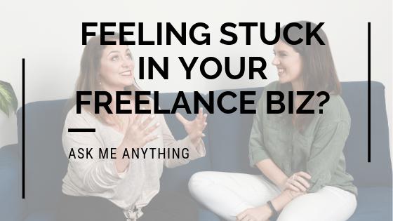 Feeling Stuck In Your Freelance Biz? [time sensitive]